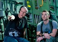 ジェームズ・キャメロン監督とサム・ワーシントン(C)2009 Twentieth Century Fox. All rights reserved.