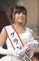 『Miss of Miss Campus Queen Contest』グランプリに選ばれた桜美林大学3年の小松愛唯さん (C)ORICON DD inc.