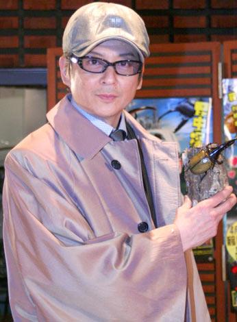主演映画『昆虫探偵ヨシダヨシミ』の主題歌収録を行った哀川翔 (C)ORICON DD inc.