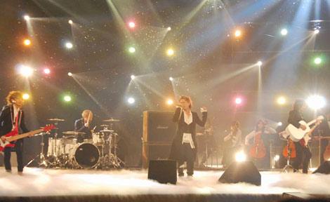 NHKのバンクーバーオリンピックテーマソング オフィシャル映像収録を行ったラルク アン シエル (C)ORICON DD inc.