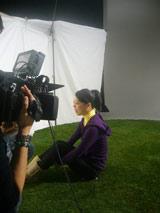 Metisの新曲「キミに出会えてよかった」ミュージックビデオに友情出演する鈴木明子選手の撮影風景