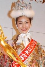 2010年度 ミス日本グランプリに輝いた林史乃さん (C)ORICON DD inc.