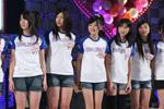 4期生候補たち。左から門田典子、金津梓、金野美穂、北澤鞠佳、倉田瑠夏