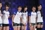4期生候補たち。左から小坂部沙希、後藤郁、巴奎依、野元愛、松谷燈