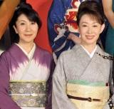 映画『人間失格』の完成披露イベントで、主演の生田斗真との撮影を振り返った(左から)室井滋と三田佳子
