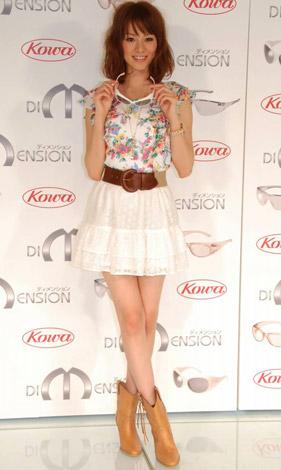 花粉・紫外線防止用グラス『ディメンション』の発売記念ファッションショーでモデルを務めた西山茉希 (C)ORICON DD inc.
