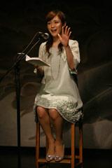 CDブック『Try Little Love 〜チギレグモノ、ソラノシタ〜』の発売記念朗読イベントに登場した杉崎美香