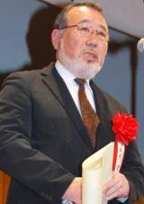 『2010年エランドール賞』特別賞を受賞した故・森繁久彌さんの代わりに出席した次男の建氏 (C)ORICON DD inc.