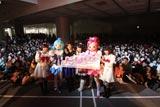 『プリキュア』新シリーズお披露目イベントの模様 (左から)工藤真由、水沢史絵、水樹奈々、池田 彩