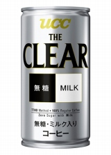 『UCC THE CLEAR(ザ・クリア) 無糖Milk 缶190g』