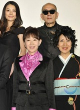 (上段左から)小池栄子、荒戸源次郎監督 (下段左から)三田佳子、室井滋 (c)2010「人間失格」製作委員会