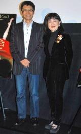 映画『渇き』特別試写会に出席した(左から)名越康文氏、鳩山幸首相夫人 (C)ORICON DD inc.
