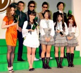 (上段左から)JUJU 、司会の赤坂泰彦、Hilcrhyme、東儀秀樹 (下段左から)真野恵里菜、AKB48の3人 (C)ORICON DD inc.