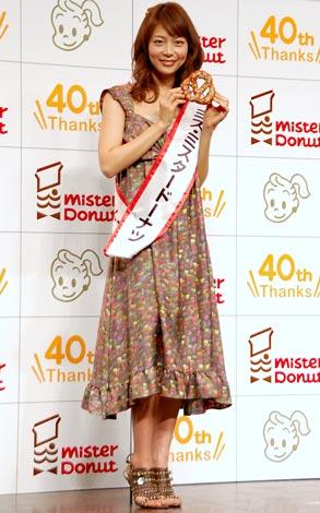 『ミスタードーナツ』2010年春の新商品発表会に出席した相武紗季 (C)ORICON DD inc.