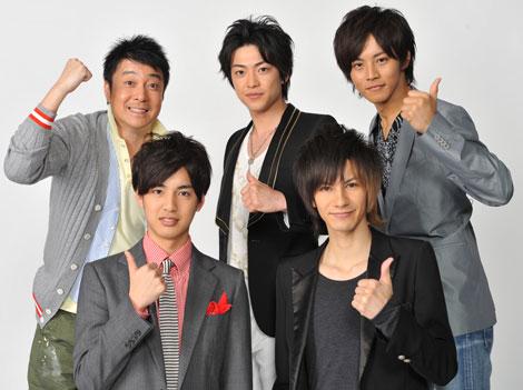 新番組『心ゆさぶれ!先輩ROCK YOU』に出演する(上段左から)加藤浩次、大東俊介、松坂桃李 (下段左から)大野拓朗、JOY