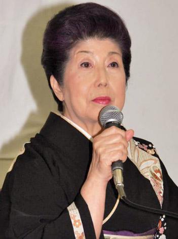 芸能生活75年目で引退を発表し会見を行った二葉百合子 (C)ORICON DD inc.