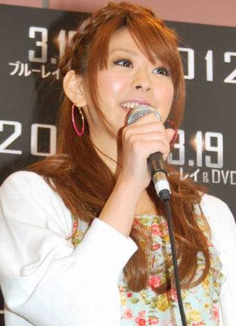 映画『2012』のBD&DVD発売記念イベントに出席した上原美優 (C)ORICON DD inc.