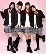 ニコ☆モコの4人。左から中山絵梨奈、日南響子、立石晴香、田中若葉