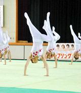 TBSドラマ『タンブリング』の制作発表で9人による男子新体操団体演技を披露 (C)ORICON DD inc.