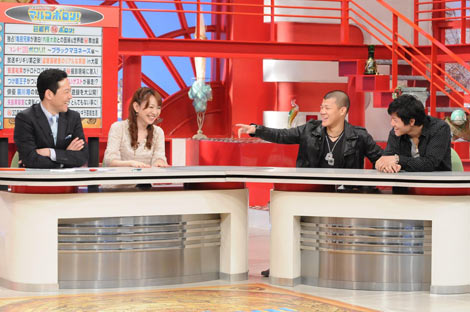 亀田興毅、大毅が出演した関西テレビ『お笑いワイドショー マルコポロリ!』の収録の模様
