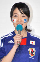 『2010FIFAワールドカップ南アフリカ』の記者会見に出席した上宮菜々子アナウンサー (C)ORICON DD inc.