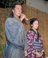 福山雅治(左)と真木よう子が出席したNHK大河ドラマ『龍馬伝』の取材会の模様