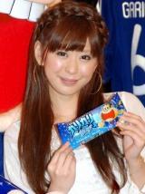 『ガリガリ君ソーダ SAMURAI BLUE』のイベントに出席した上原美優 (C)ORICON DD inc.