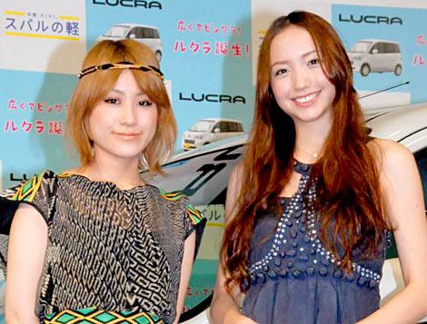 スバルの新型軽乗用車『ルクラ』の新CM発表会に出席した(左から)IMALU、豊田エリー (C)ORICON DD inc.