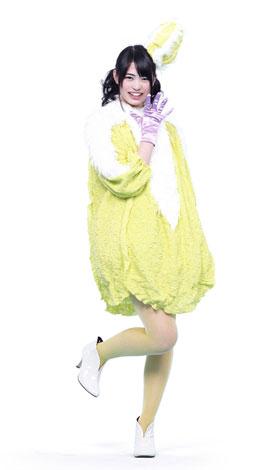 白菜に扮した前田亜美