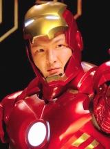 """映画『アイアンマン2』公開記念イベントに、""""アイアンマン""""のコスプレ姿で登場した中村獅童 (C)ORICON DD inc."""