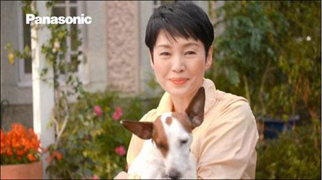 パナソニック『LUMIX Gシリーズ』のCMで流れる映像を撮影した樋口可南子と、愛犬・ブイヨン