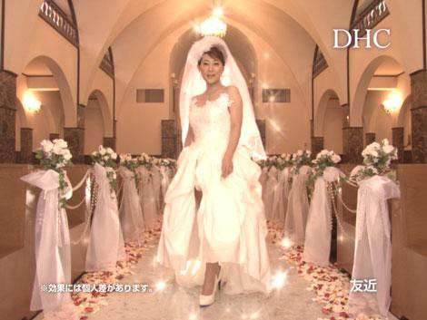 サムネイル 『DHCプロティンダイエット』新CMにウエディングドレス姿で登場する友近