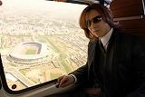 hideさん(享年33)の十三回忌法要後、YOSHIKIはヘリで横浜・日産スタジアムの下見を行った