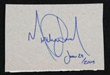 マイケル・ジャクソンさんの生前最後のサイン