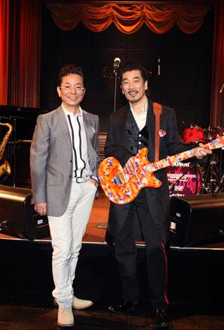 水谷豊(左)初のライブハウス公演にデュエットで参加する宇崎竜童 ※写真は公開リハーサルの模様