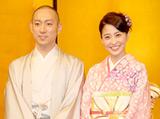 今年1月に婚約会見を行った市川海老蔵&小林麻央 (C)ORICON DD inc.