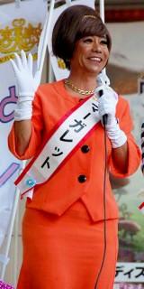 有楽町で街頭演説を行ったマーガレット (C)ORICON DD inc.