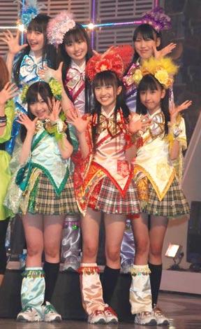 人気アイドル7組59名が共演! NHK音楽番組『MUSIC JAPAN』の収録を行ったももいろクローバー (C)ORICON DD inc.