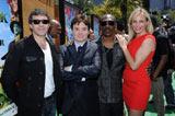 おなじみの声優陣が集結(左から)アントニオ・バンデラス、マイク・マイヤーズ、エディ・マーフィー、キャメロン・ディアス