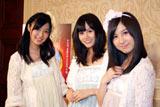 軽妙なノリとツッコミを交えたガールズトークでディズニーアニメをPRしたAKB48の(左から)指原莉乃、前田敦子、小野恵令奈(C)ORICON DD inc.