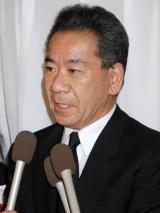 吉岡治さんの通夜に参列した大川栄策 (C)ORICON DD inc.