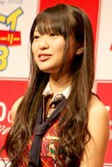 映画『トイ・ストーリー3』の記者会見に出席したAKB48・北原里英
