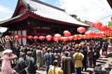 NHK大河ドラマ『龍馬伝』の演出に華を添える大勢のエキストラ