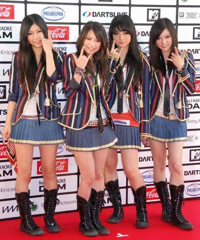 『MTV WORLD STAGE VMAJ 2010』のレッドカーペットイベントに出席したSCANDAL (C)ORICON DD inc.