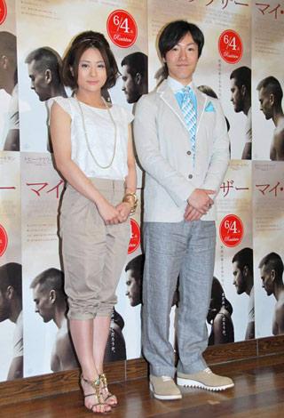 映画『マイ・ブラザー』のトークイベントに出席した(左から)前田愛、濱口善幸 (C)ORICON DD inc.