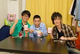 『お願い!ランキング』の大人気コーナー「ちょい足しクッキング」に挑戦する爆笑問題・太田チーム(写真上左からビビる大木、太田光、JOY)