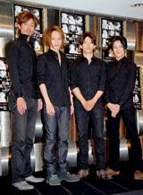 舞台『真夜中のパーティー』の製作発表に出席した中村昌也、徳山秀典、阿部力、内田滋