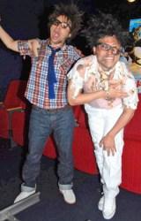 映画『ヒックとドラゴン』のCM撮影で無残な姿を披露したオードリー(左から若林正恭、春日俊彰) (C)ORICON DD inc.
