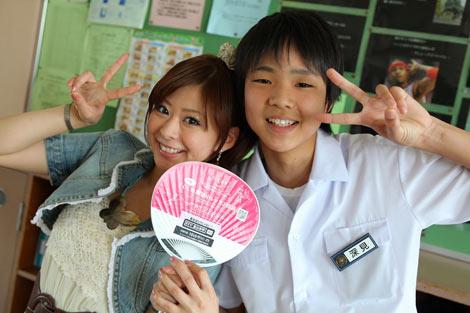 NHKドラマ『中学生日記』で初主演に挑戦する上原美優(左)
