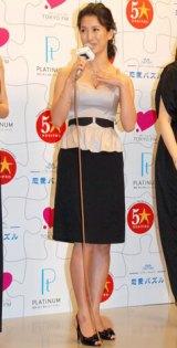 ラジオドラマ『LOVE=Platinum 恋愛パズル』のお披露目会見に出席した戸田菜穂 (C)ORICON DD inc.